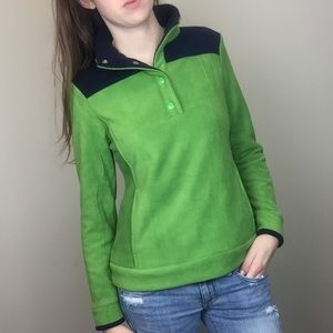 4/$25 Crown and Ivy Sweater Fleece xs green Navy
